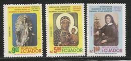 1985 Ecuador Beautification Of Mary Molina  Religion Set  Of 3 MNH - Ecuador