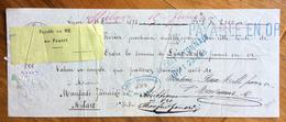 CAMBIALE MANOSCRITTA LYON 1873  DI 2000 FRANCHI ORO  CON INTERESSANTE   FIRMA AUTOGRAFA DI  MICHELE DI SANGRO - Cambiali