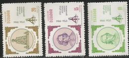 1985 Ecuador Geodesic MNission Anniversary Engineering  Complete Set Of 3 MNH - Ecuador