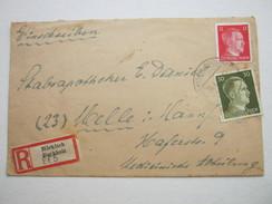 1944 , Märkisch Buchholz, Einschreiben - Deutschland