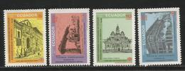 1985 Ecuador Philatelic Congress Architecture Complete Set Of 4 MNH - Ecuador