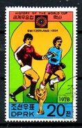 COREE DU NORD. N°1489E Oblitéré De 1978. Suisse'54. - Coupe Du Monde
