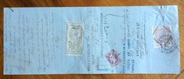 CAMBIALE  S.FELICE DE GUIXOLS 1875 DI 5561 FR. CON INTERESSANTI   FIRME AUTOGRAFE  E MARCHE DA BOLLO - Cambiali