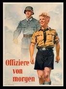 Militaria WW2 - Photo Affiche De Propagande Allemande - Offiziere Von Morgen - 1939-45