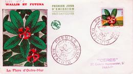 Wallis And Futuna (France), Flora , Montrouziera,  Superb FDC Cover 1958 - Wallis And Futuna