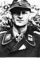 Militaria WW2 -  SS Ludwig Spindler, Cdt Le Régiment D'artillerie De La 9° SS Panzerdivision En Juillet 1944 - 1939-45