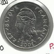 Polinesia Francesa_2001_20 Francos. EBC - Polinesia Francesa