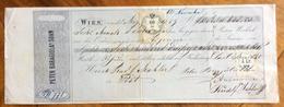 CAMBIALE  PETER BARAGLIOLA WIEN   1859   DI 638,50 GULDEN   CON INTERESSANTI  FIRME E MARCHE DA BOLLO LOMBARDO VENETO - Cambiali