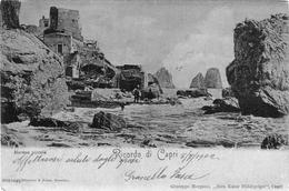 """Ricordo Di Capri_Marina Piccola Nel 190222222222222!!!! Vg 8/7/1902 X Genova_""""2 Scan- - Napoli"""