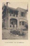 83 // LA PLAGE D HYERES    Villa La FARANDOLE   Tampon AGENCE PONS, Transactions Immobilieres, Au Verso - Hyeres