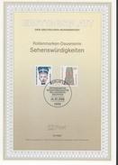 ALLEMAGNE  BERLIN   Carte Notice  1er Jour  1988 Monument Cathedrale Nefertiti - Egyptologie