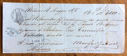 CAMBIALE  MILANO  1875   DI 3000 ITALIANE LIRE    CON INTERESSANTI  FIRME E MARCHE DA BOLLO - Cambiali