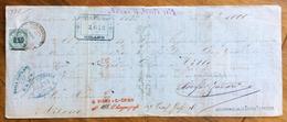 CAMBIALE  MANOSCRITTA BELLINZONA  1872  DI 1000 LIRE  CON INTERESSANTI  FIRME E MARCHE DA BOLLO - Cambiali