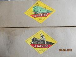 LOT DE 8 RAILS HO EN BOITE  MARQUE Le Rapide LR Louis Roussy - Model Railways