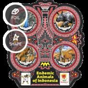 Sierra Leone 2017, Animals In Indonesia, Rhino, Tiger, 4val In BF