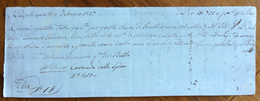 CAMBIALE MANOSCRITTA NAPOLI 1817  DI 700 VALUTA DI MILANO...  CON INTERESSANTI  FIRME - Cambiali