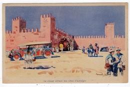 Marins En Excursion Au Maroc-  Le Visage Curieux Des Villes D'autrefois-autocar -  Illustrateur Signé  Bernard ...? - Illustrateurs & Photographes