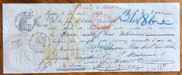 CAMBIALE LYON 1871 DI 2000  LIRE ITALIANE IN ORO  CON INTERESSANTI  FIRME GIRATE E MARCA DA BOLLO - Cambiali