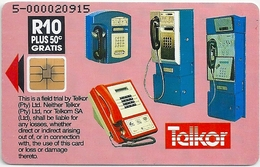 S. Africa - Telkor - Pink, Faces & Cardphones - ChipSO3, 10.5R, 2.000ex, Used
