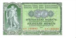 Czechoslovakia - Pick 85b - 50 Korun 1953 - Unc - Cecoslovacchia