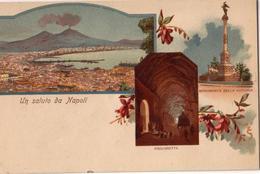 """Un Saluto Da Napoli_Piedigrotta_Monumento Della Vittoria_Panorama-Antica Originale Ante 1905_""""2 Scan- - Napoli"""