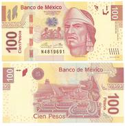 Mexico 100 Pesos P-124 2014 Serie AN UNC - Mexico