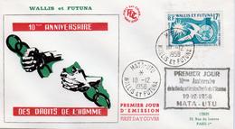 Wallis And Futuna (France), Universal Declaration Of Human Rights,  Superb FDC Cover 1958 - Wallis And Futuna