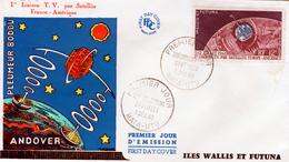 Wallis And Futuna (France), Satellite Telstar 1,  Superb FDC Cover 1962 - Wallis And Futuna