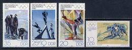 GDR 1980 2478-2481 OLYMPIC GAMES LAKE-PLESID-80