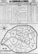 Commune De 1871 Plan Administratif Commune De Paris Arrondissement Nombre Habitants Et Conseillers - Vecchi Documenti