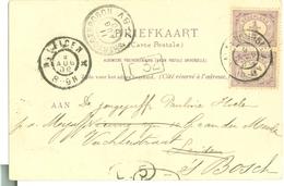 NEDERLAND BRIEFKAART Uit 1900 Gelopen Van VALKENBURG Naar 's-HERTOGENBOSCH Naar LEIDEN * 2 X NVPH 50 (10.627a) - Periode 1891-1948 (Wilhelmina)