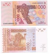 West African States 1000 Francs Mali (D) P-415D 2014 UNC - West African States