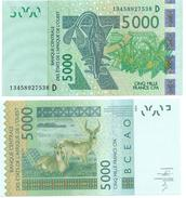 West African States 5000 Francs Mali (D) P-417D 2014 UNC - West African States