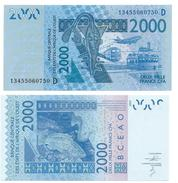 West African States 2000 Francs Mali (D) P-416D 2014 UNC - West African States