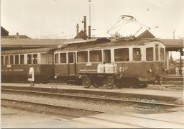 PHOTO TRAIN LOCOMOTIVE CHEMINS DE FER VEVEYSANS - Trains