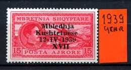 ALBANIA - SHQYPTARE - Year 1939 - Nuovo -news - MNH ** - Albania