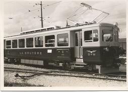 PHOTO TRAIN LOCOMOTIVE CHEMINS DE FER LA GRUYERE PHOTO GLASSON NOUVEAU MATERIEL DE LA GRUYERE - Eisenbahnverkehr