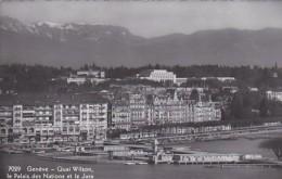 Switzerland Geneve Quai Wilson le Palais des Nations et le Jura