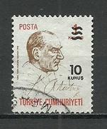 Turkey ; 1977 Surcharged Regular Issue Stamp - 1921-... República