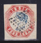 1854 Compagnia Inglese Delle Indie Yv.  5  Michel 7  Timbrato  0 Firmato A.D. - Inde (...-1947)