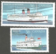 Sc. # 1139 & 40 Canadian Steamships Pair Used 1987 K158