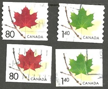 Sc. # 2009 & 10, 2013 & 14 Maple Leaf Definitive, Coil And Booklet Used 2003 K159