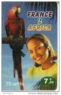 CARTE-PREPAYEE-FRANCE AFRICA2-75U-7.5-PERROQUET-TBE - Autres Prépayées