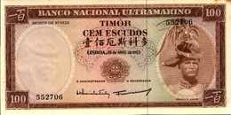 TIMOR 100 ESCUDOS Du 25-4-1965  Pick 28  AU/SPL+ - Timor