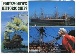 - 54 - Portsmouth 's Historic Ship - Mary Rose, H, M. S. Victory,  Grand Format, Pour Cassis, écrite, BE,  Scans. - Portsmouth