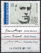 France 1991 - French Poet : René Clair ( Mi 2824a - YT 2686 ) MNH** + Label - France