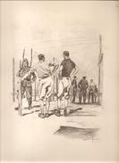 Militaria Gravure N°2 Le Chemin De La Ronde D'Etienne Morin - Vieux Papiers