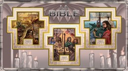 GUINEA 2011 SHEET THE BIBLE LA BIBLIA BIBEL BIBBIA OLD NEW TESTAMENTS RELIGION ART PAINTINGS Gu11308a - República De Guinea (1958-...)
