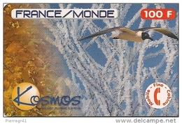 CARTE PREPAYEE-KOSMOS-100F-FRAN CE-MONDE-MOUETTE-11/99-30 000ex- GRATTE-T BE- - Autres Prépayées