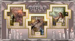GUINEA 2011 SHEET THE BIBLE LA BIBLIA BIBEL BIBBIA OLD NEW TESTAMENTS RELIGION ART PAINTINGS Gu11309a - República De Guinea (1958-...)